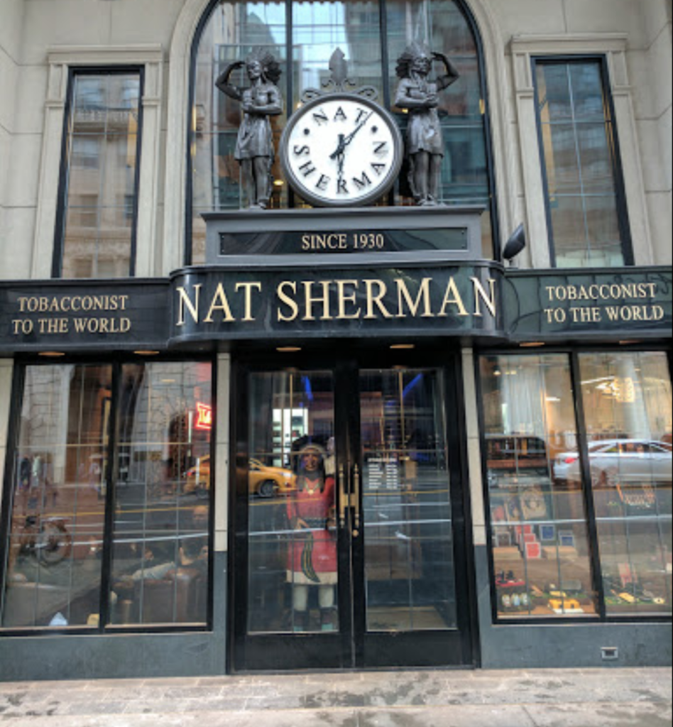 Nat Sherman International Storefront